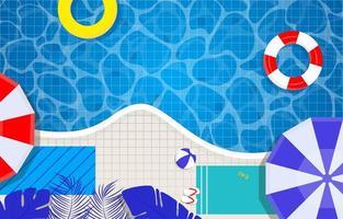 Schwimmbadhintergrund mit Sommerstimmung vektor