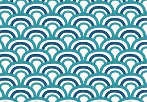 Gekritzel-Japaner bewegt Hintergrund wellenartig vektor