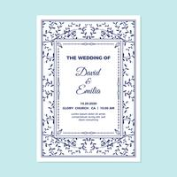 Hochzeit Einladungskarte Vorlage vektor