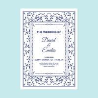 Kort för bröllopsinbjudan vektor