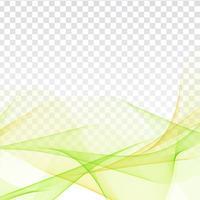 Abstraktes Wellendesign auf transparentem Hintergrund vektor