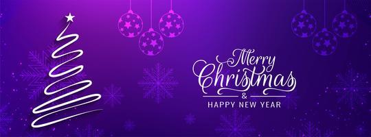 Abstrakte Fahnenschablone der frohen Weihnachten vektor