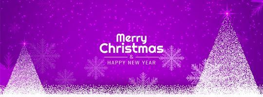 Elegante Frohe Weihnachten Banner Vorlage vektor