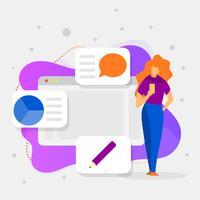 Flache moderne unbedeutende Grafikdesign-Software-Vektor-Illustration