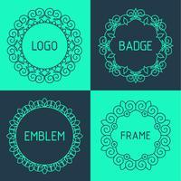 Vektor Umrisse Rahmen und Abzeichen