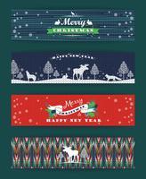 Jul och nyårssats. Stickade bakgrunder. vektor
