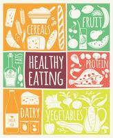 Vektor illustration av hälsosam mat.