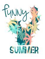 Tropischer Strandsommerdruck mit Slogan für T-Shirts, Poster, Karten und andere Zwecke.