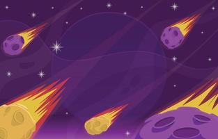 Meteoritenschauer im Weltraum vektor