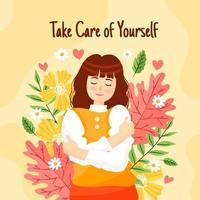 Selbstpflege Poster vektor