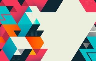bunter abstrakter geometrischer Hintergrund vektor