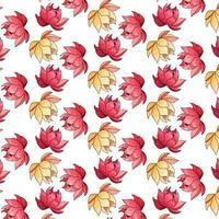 tropisches Muster mit exotischen Blumen im Karikaturstil vektor
