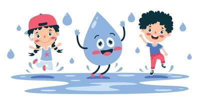 Konzept des Wortes Wassertag vektor