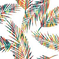 Seamless exotiskt mönster med palmblad. vektor