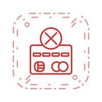 Betalningsfel vektor ikon