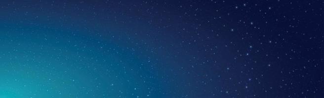 sternenklarer schwarz-blauer Himmel mit fliegenden Kometen vektor