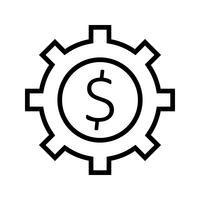 Geschäftszahn Vektor Icon