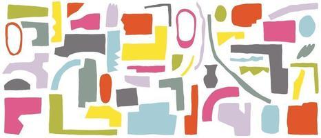 abstrakter Hintergrundvektor mit natürlichen Gekritzellinienkünsten. kreatives Muster mit handgezeichneten Formen. Designhintergrund für Social Media Post, Cover, Print und Wallpaper vektor