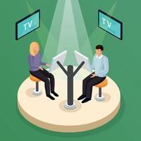 TV-Show Quiz Zusammensetzung Vektor-Illustration vector