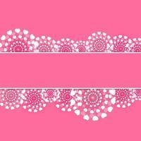 abstrakte Herz-Blumen-Hintergrund-Vektor-Illustration vektor