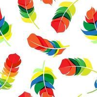 Vogelfeder handgezeichnete nahtlose Muster Hintergrund Vektor illus