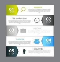 Infografik-Vorlagen für Business-Vektor-Illustrationen vektor