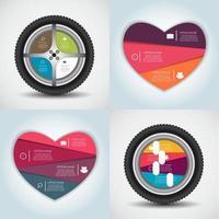 Infografik-Vorlagen für Business-Vektor-Illustration. vektor