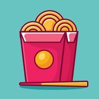 Nudelbox isolierte Cartoon-Vektor-Illustration im flachen Stil vektor