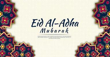 eid al-adha hintergrund voller schöner blumen vektor