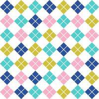 Vintage nahtloses Muster mit weichen Farbrauten. Retro-geometrischer Hintergrund. Vektor-Illustration. vektor
