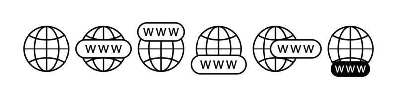 Internet Www Suchsymbole gesetzt vektor
