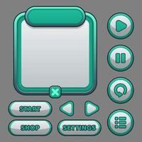 Spiel grundlegende Benutzeroberfläche und Tastensatz vektor