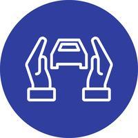 Kfz-Versicherung Vektor Icon