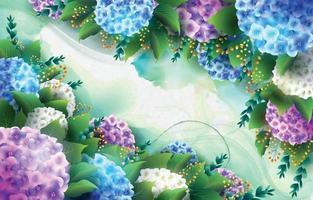 Hortensie Blumenhintergrund vektor