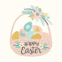 Glad påsk. Vektor mallar för kort, affisch, flygblad och andra användare.