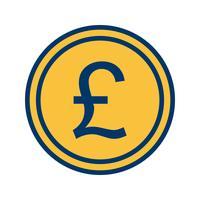 Pfund-Vektor-Symbol