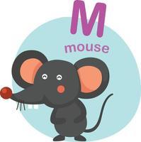 Abbildung isoliert Alphabet Buchstaben m-Maus-Vektor-Illustration vektor