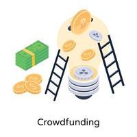 gemeinsames Crowdfunding vektor