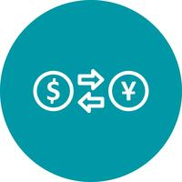 Wechselkurs-Vektor-Symbol