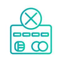 Zahlungsfehler Vektor Icon