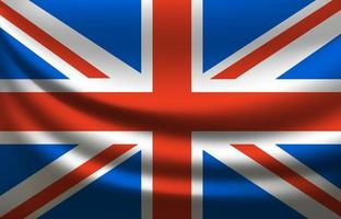 Großbritannien wehende Flagge. Vereinigtes Königreich vektor