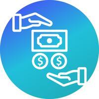 Gehalt-Vektor-Symbol