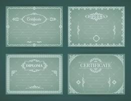 Sammlung von Vektor-Designvorlagen für Diplom, Zertifikat, Poster und andere Zwecke
