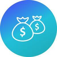 Pengar väskor vektor ikon