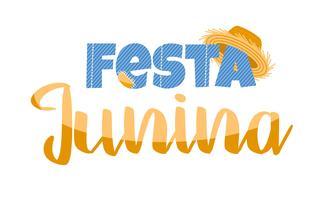 Lateinamerikanischer Feiertag, die Juniparty von Brasilien. Schriftgestaltung.