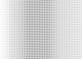 Vektorschwarze Punkte im horizontalen Linienmuster, dunkle Punkte auf weißem Hintergrund, Wellenpunkthintergrund, Computer- und Smartphone-App und Website-Benutzeroberfläche, vektor
