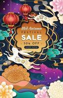 Plakat zum Verkauf des mittleren Herbstfestivals vektor