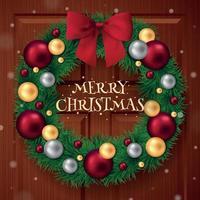 Frohe Weihnachten-Ring-Hintergrund-Vektor-Illustration vektor