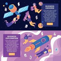 Business Space horizontale Banner-Vektor-Illustration vektor