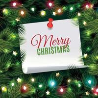 Tannennadel Weihnachten Hintergrund Vektor-Illustration vektor